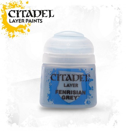 Citadel Base Paint - základní barva, šedá (Fenrisian Grey)