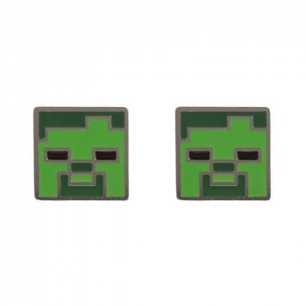 Náušnice Minecraft - Zombie Stud