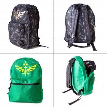 Batoh Zelda - oboustranný zelený/černý
