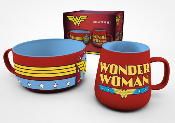 Snídaňový set DC Comics - Wonder Woman