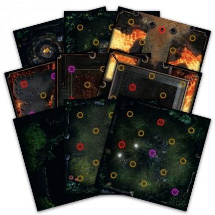 Desková hra Dark Souls - Darkroot Basin and Iron Keep Tile Set (rozříšení)