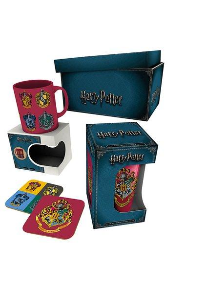 Dárkový set Harry Potter - hrnek, sklenice, podtácky