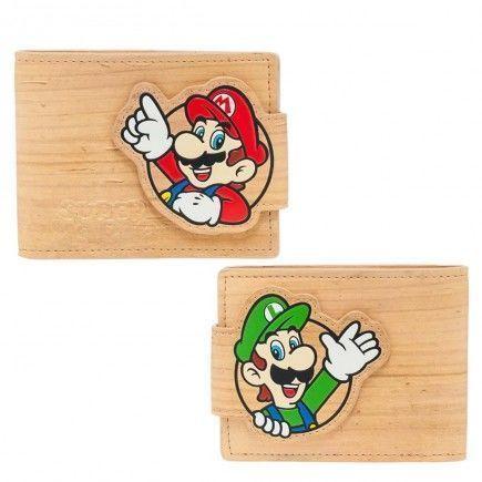 Peněženka Nintendo - Mario a Luigi Woodgrain