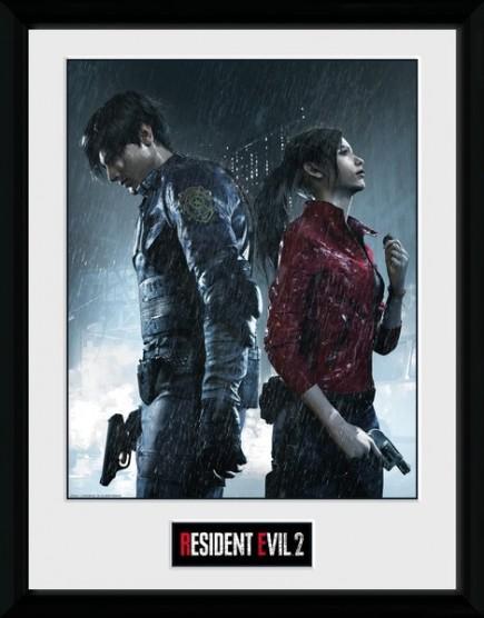 Zarámovaný plakát Resident Evil 2 - Keyart