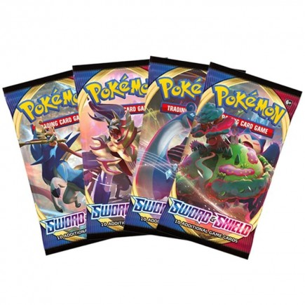 Karetní hra Pokémon TCG: Sword and Shield - Booster (10 karet)