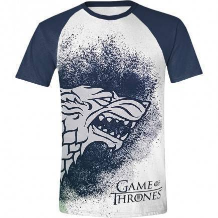 Tričko Game of Thrones - Painted Stark Raglan (velikost S)