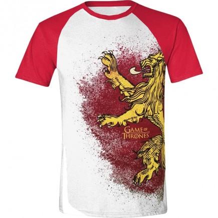Tričko Game of Thrones - Lannister Painted Raglan (velikost S)