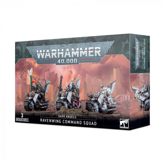 W40k: Dark Angels: Ravenwing Command Squad (3 figurky)