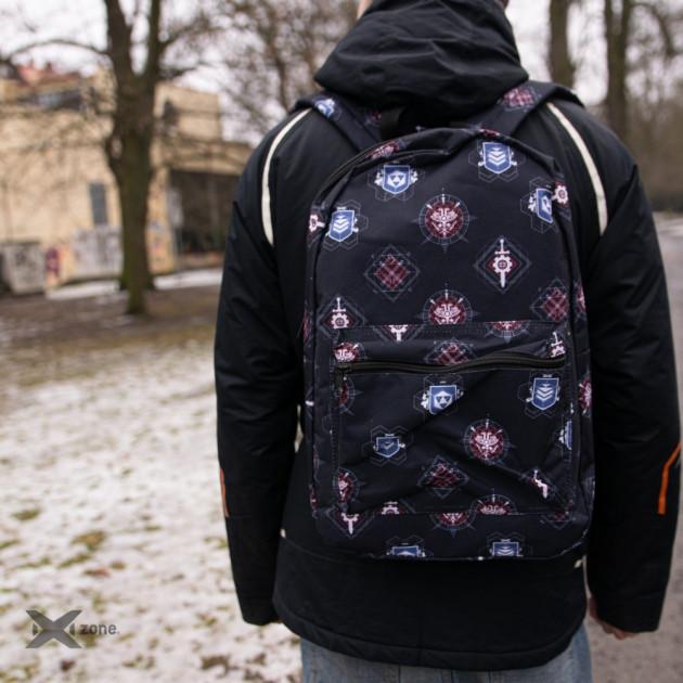 Destiny - All Over Printed Logo's Backpack - Black