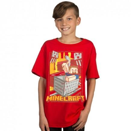 Tričko dětské Minecraft - Vintage Runaway (americká vel. XL / evropská XXL)