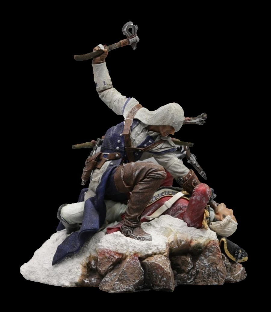 Figurka Assassins Creed 3 Connor Diorama Xzone Cz