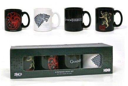 Hrnek Game of Thrones - Espresso Sada - 4 ks
