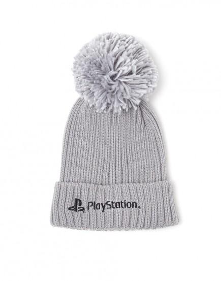 Čepice se šálou PlayStation - Silver