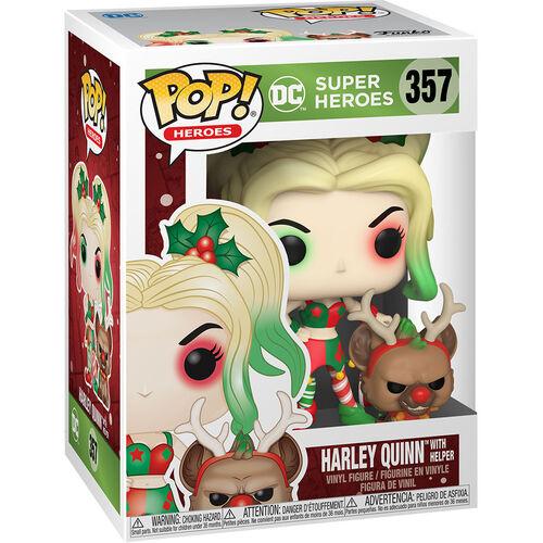Figurka DC Comic - Holiday Harley Quinn with Helper (Funko POP! DC 357)