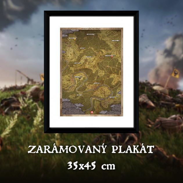 Zarámovaný plakát Xzone Originals - Kingdom Come: Deliverance - Mapa