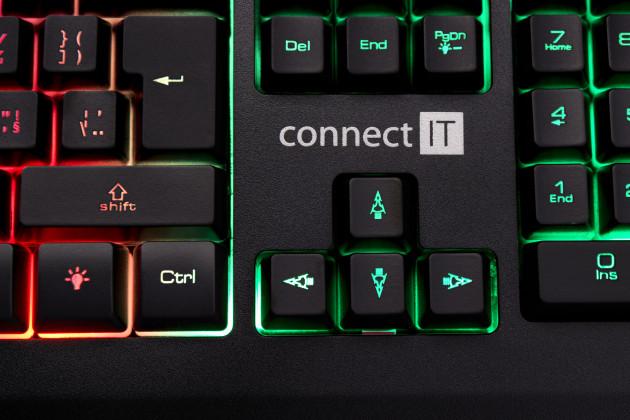 Herní klávesnice Connect IT - Battle RNBW (černo-červená) [česká verze]