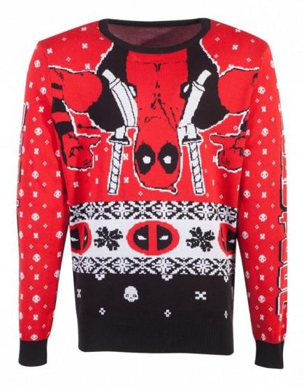 Svetr Deadpool - Holiday Deadpool (velikost XXL)