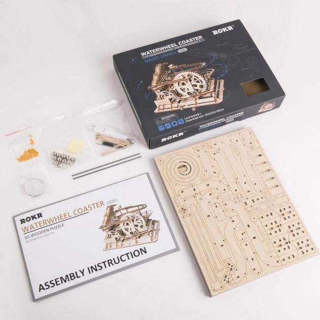 Marble Parkour LG501 - Robotime Handcrank Marble Run Building Kits