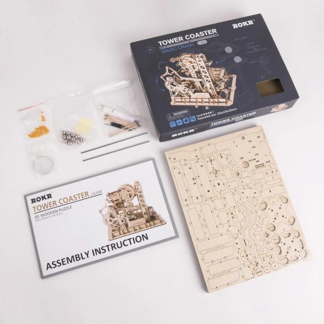 Marble Parkour LG501 - Robotime Handcrank Marble Climber Building Kits