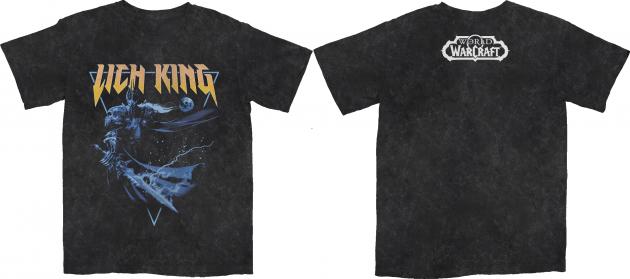 Tričko World of Warcraft - Lich King Metal Acid Wash (velikost M)