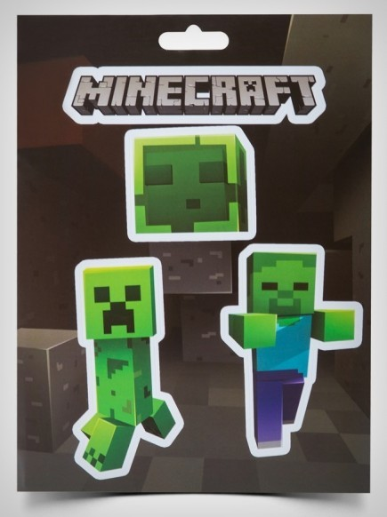 Samolepky Minecraft - Mobs Caves