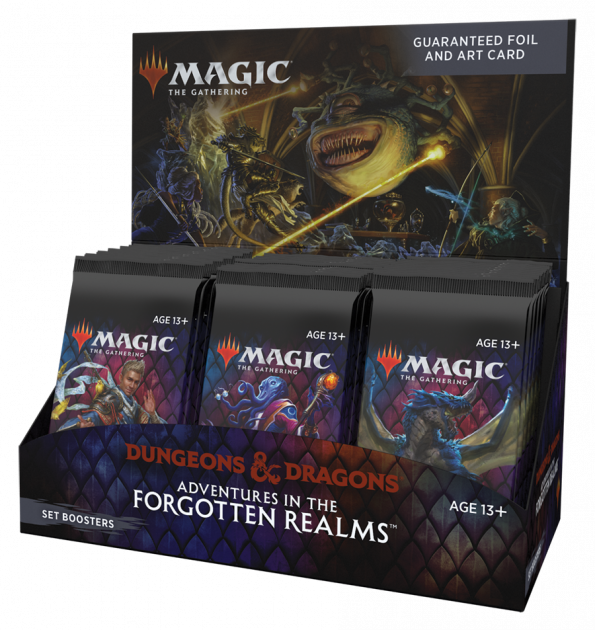 Karetní hra Magic: The Gathering Dungeons and Dragons: Adventures in the Forgotten Realms - Set Booster Box (30 Boosterů)