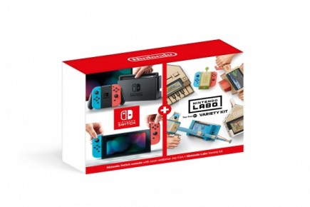 Konzole Nintendo Switch - Neon Red/Neon Blue + Nintendo Labo Variety Kit