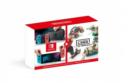 Konzole Nintendo Switch - Neon Red/Neon Blue + Nintendo Labo Vehicle Kit (SWITCH)