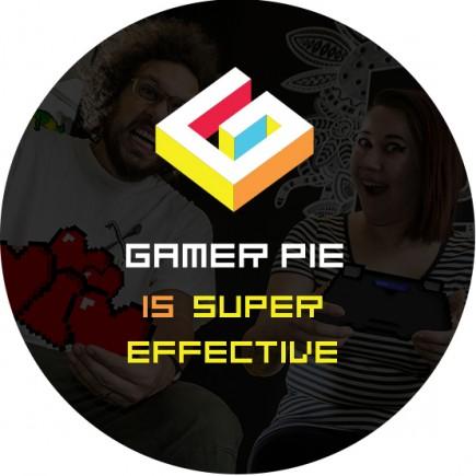 Odznak Gamer Pie - Super Effective (37mm)