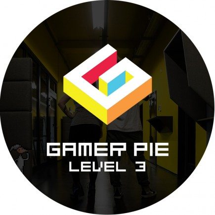 Odznak Gamer Pie - Level 3 (56mm)
