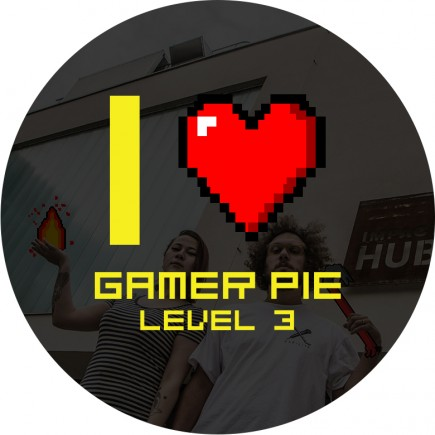 Odznak Gamer Pie - I Love Gamer Pie (56mm)