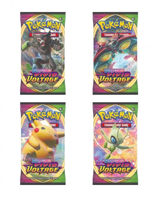 Karetní hra Pokémon TCG: Sword and Shield Vivid Voltage - Booster (10 karet)