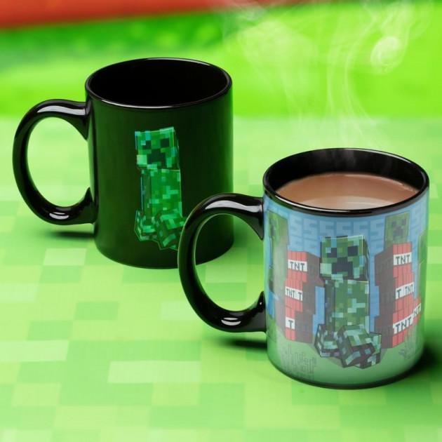 Hrnek Minecraft - Creeper (měnící se)