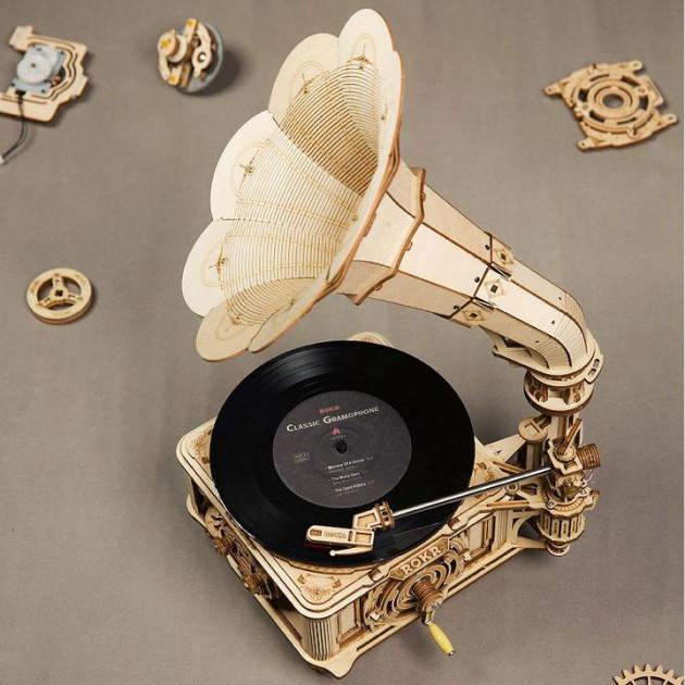 Stavebnice - Gramofon (dřevěná)