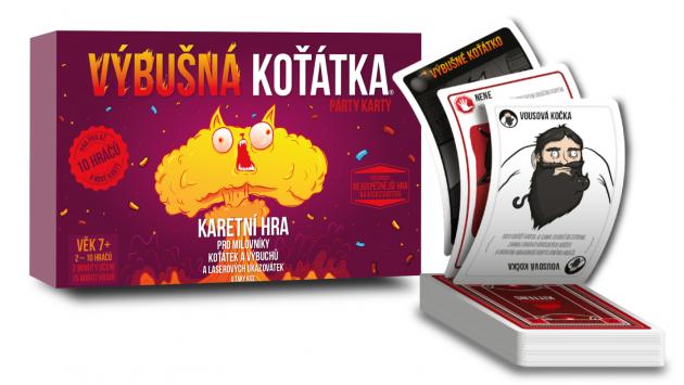 Karetní hra Výbušná koťátka: Párty karty