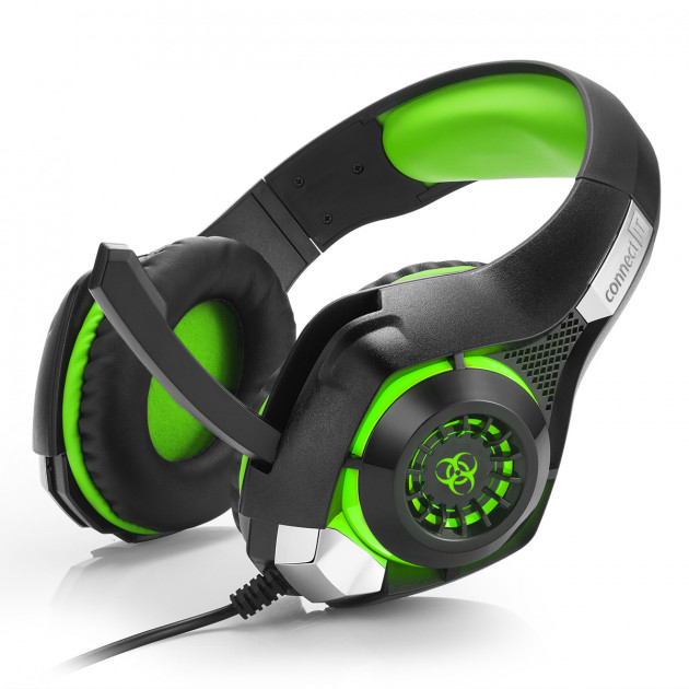 Herní sluchátka Connect IT Biohazard (zelené)