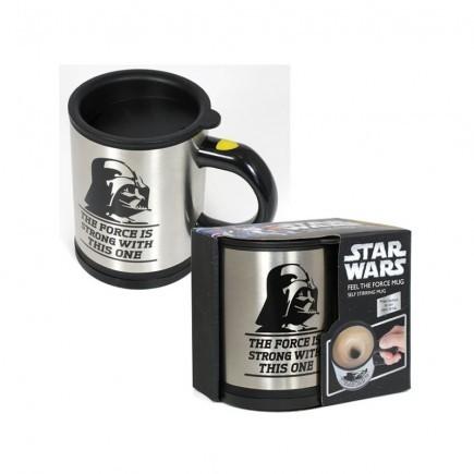 Samomíchací hrnek Star Wars - Feel the Force Vader!