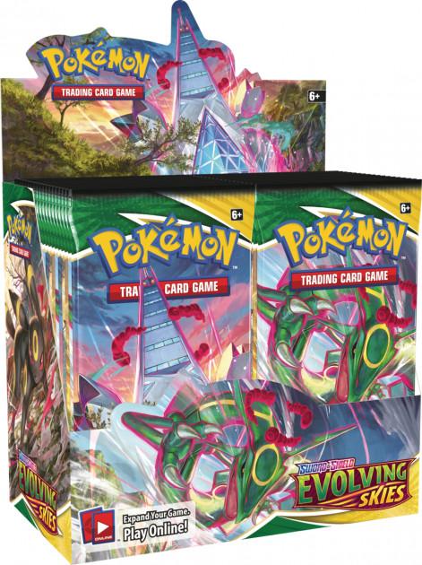 Karetní hra Pokémon TCG: Sword and Shield Evolving Skies - booster (10 karet)