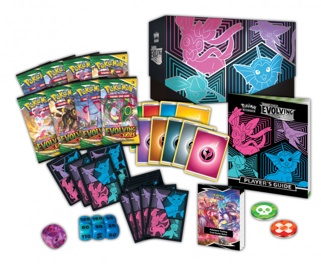 Karetní hra Pokémon TCG: Sword and Shield Evolving Skies - Elite Trainer Box (v2)