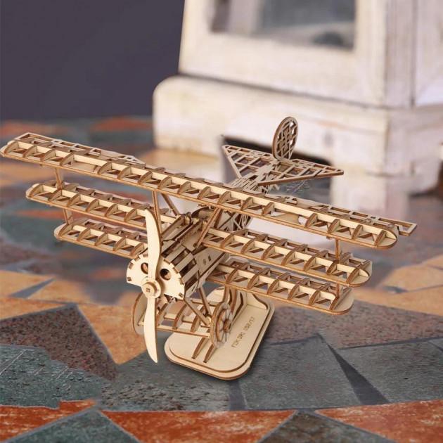 Stavebnice - Letadlo Dvojplošník (dřevěná)