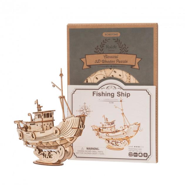 Stavebnice - Rybářská loď (dřevěná)