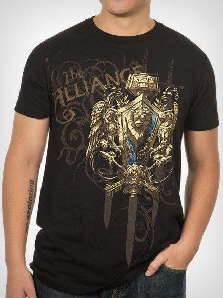 Tričko World of Warcraft Alliance Crest verze 2 (americká vel. S / evropská M)