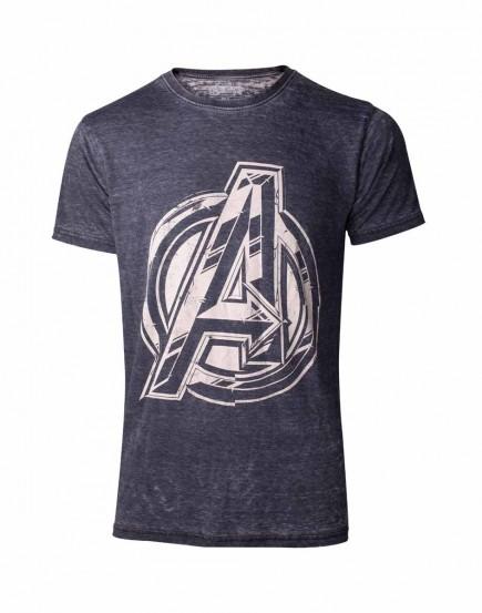 Tričko Avengers - Vintage Jack Kirby Logo (velikost L)