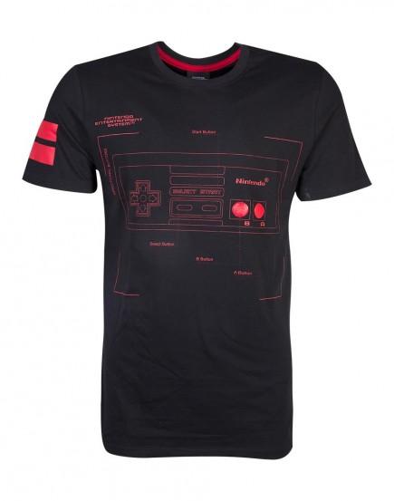 Tričko Nintendo - NES Controller (velikost S)