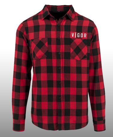 Košile Vigor - Károvaná (velikost M)