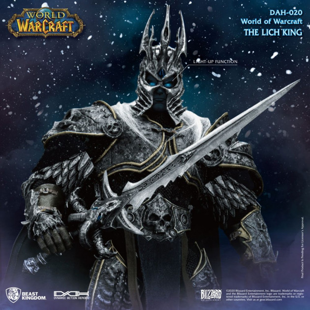 World of Warcraft Wrath of the Lich King Dynamic 8ction Heroes Action Figure 1/9 Arthas Menethil DAH (020)