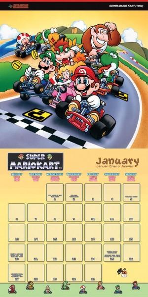 Super Nintendo Calendar 2020