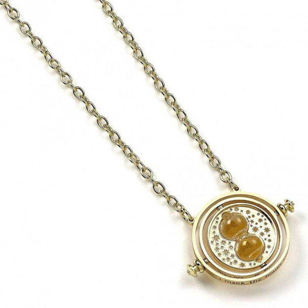 Harry Potter Pendant and Necklace Spinning Time Turner (gold plated)