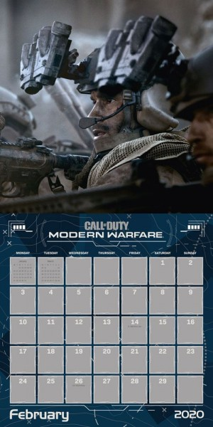call of duty Calendar 2020