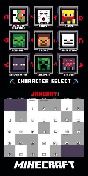 Kalendář Minecraft 2020 - Mini